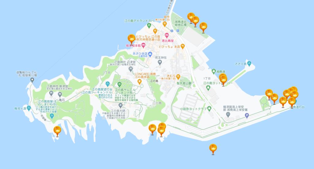 釣りスポット情報共有マップくんで得た情報を活用し江の島で釣りを堪能3