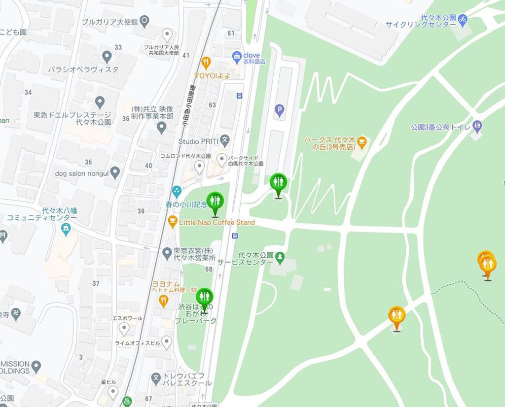 渋谷の透明トイレをトイレ情報共有マップくんで発見!