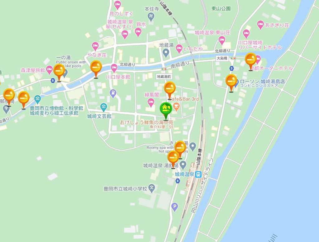 温泉情報共有マップくんで城崎温泉について調べてみよう