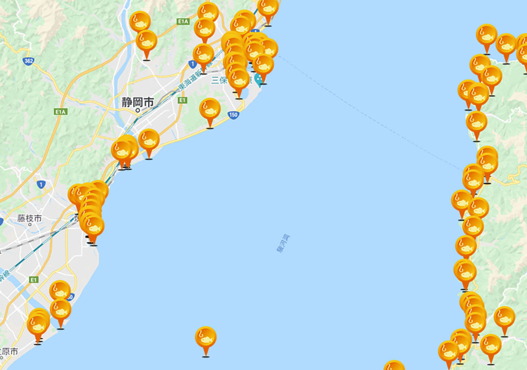 駿河湾で釣りをするなら釣りスポット情報共有マップくんは必須