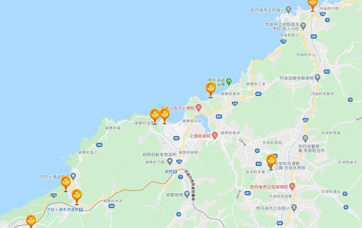 浅茂川浦島天然温泉と松葉ガニと「温泉情報共有マップくん」